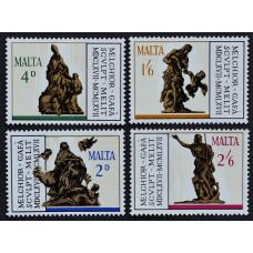 1967, август. Набор почтовых марок Мальты. 300-летие со дня смерти Мельхиор Гафа