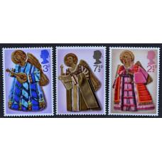 1972, октябрь. Набор почтовых марок Великобритании. Рождество