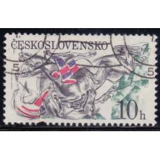 1978, октябрь. Почтовая марка Чехословакии. Бег с препятствиями в Пардубице. 10 h