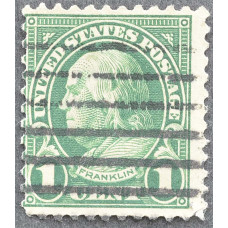 1923 Январь США Бенджамин Франклин 1 цент
