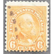 1922 Ноябрь США Джеймс А. Гарфилд 6 центов