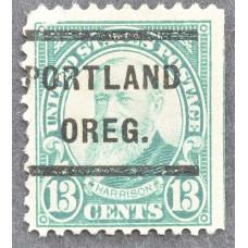 1926 Январь США Бенджамин Гаррисон PORTLAND OREG. 13 центов