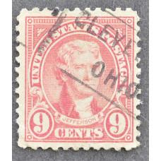 1923 Январь США Томас Джефферсон CLEVELAND OHIO 9 центов