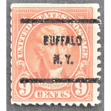 1923 Январь США Томас Джефферсон BUFFALO N.Y. 9 центов