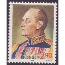 1988 Июль Норвегия 85 лет со Дня Рождения Короля Улава 2.90 кроны