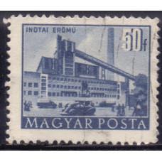 1952, июль. Почтовая марка Венгрии. Архитектура, город Сталинварош. 50 филлеров