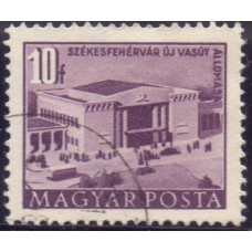 1952, июль. Почтовая марка Венгрии. Архитектура, город Сталинварош. 10 филлеров