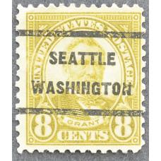 1923 Май США Улисс Грант SEATTLE WASHINGTON 8 центов