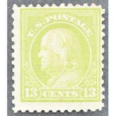 1919 Январь США Бенджамин Франклин 13 центов