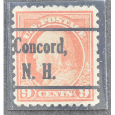 1917 США Бенджамин Франклин Concord, N. H. 9 центов