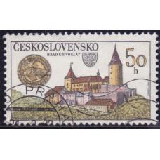 1982 Август Чехословакия Замок 50 геллеров
