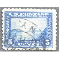 1913 Январь США Панамо-Тихоокеанский Выставочный Выпуск 5 центов