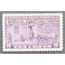 1922 США Почтальон и Мотоцикл 10 центов