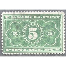 1913 Ноябрь США Бандерольные Доплатные Марки 5 центов