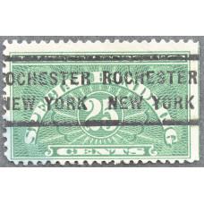 1925-1955 США Специальные Марки для Погрузочно-Разгрузочных Работ 25 центов