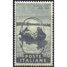 1958, август. Почтовая марка Италии. 100-летие со дня рождения Джованни Сегантини