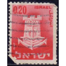 1965, март. Почтовая марка Израиля. Городские гербы. Эйлат