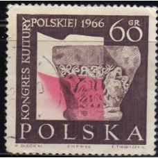 1966, октябрь. Почтовая марка Польши. Конгресс польской культуры