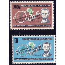 1963 Октябрь Республика Того 100 лет Освобождения Американских Рабов