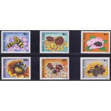1980, январь. Набор почтовых марок Венгрии. Насекомые опыляют цветы