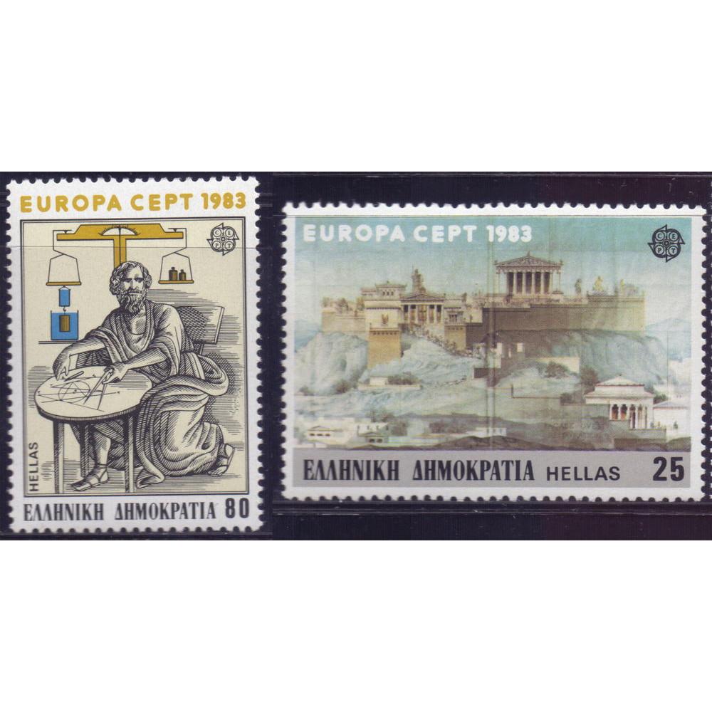 1983, апрель. Набор почтовых марок Греции. ЕВРОПА CEPT - Изобретения