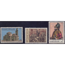 1975, март. Набор почтовых марок Греции. 150 лет со дня смерти Папафлессас