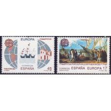 1992, май. Набор почтовых марок Испании. 500-летие открытия Америки