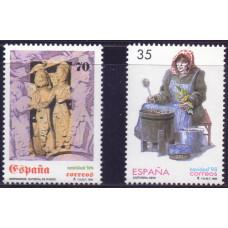 1998, ноябрь. Набор почтовых марок Испании. Рождество