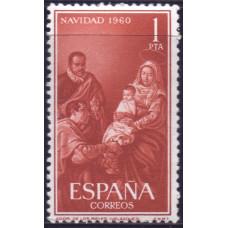 1960, декабрь. Почтовая марка Испании. Рождество