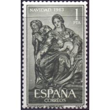 1963, декабрь. Почтовая марка Испании. Рождество