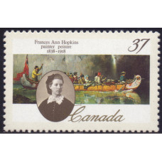 1988, ноябрь. Почтовая марка Канады. 150-летие со дня рождения Фрэнсис Энн Хопкинс