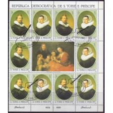 1983, май. Марочный лист Сан-Томе и Принсипи. Картины Рембрандта