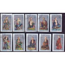 1978, июль. Набор почтовых марок Вьетнама. Скульптуры пагоды Тай Фыонг