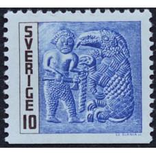 1967, май. Почтовая марка Швеции. Железный век. 10 эре