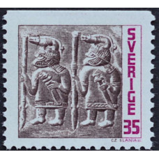 1967, май. Почтовая марка Швеции. Железный век. 35 эре
