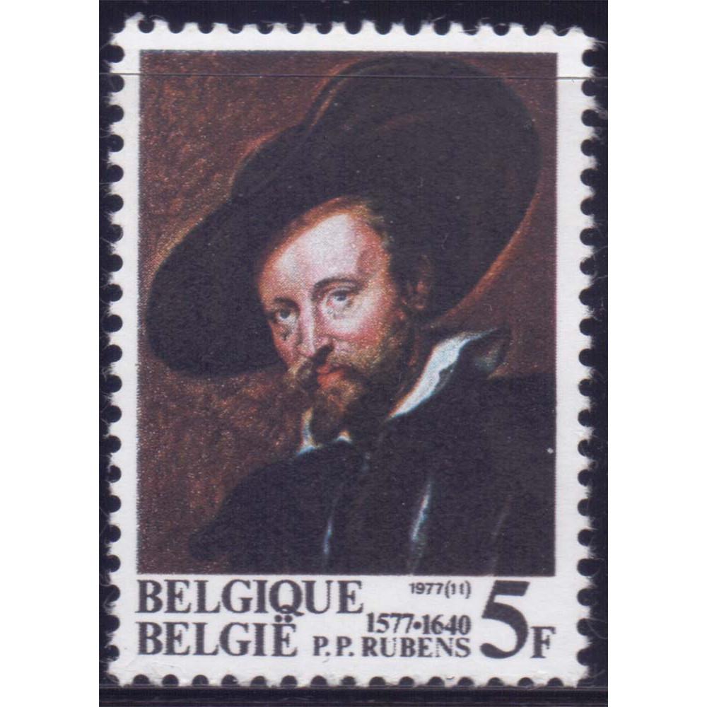 1977 Июнь Бельгия 400 лет со Дня Смерти П.П.Рубенса 5 франков