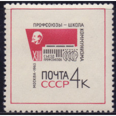 1963, октябрь. XIII съезд профсоюзов в Москве (28/Х - 2/ХI)