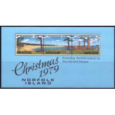 1979, ноябрь. Сувенирный лист Острова Норфолк. Рождество