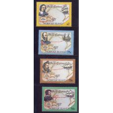 1994, февраль. Набор почтовых марок Острова Норфолк. Исследователи и путешественники