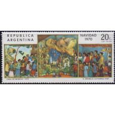 1970, декабрь. Почтовая марка Аргентины. Рождество