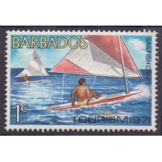 1971 Август Барбадос Туризм 1 цент