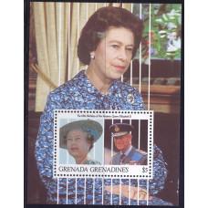 1991 Июль Гренада Гренадины 65 лет со Дня Рождения Королевы Елизаветы II 5 долларов