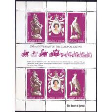 1978 Апрель Самоа 25 лет Коронации Королевы Елизаветы II 26 сене