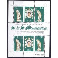 1978 Апрель Фиджи 25 лет Коронации Королевы Елизаветы II 25 центов