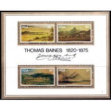 1975 Июнь Южно-Африканская Республика (ЮАР) 100-лет со Дня Смерти Томаса Бейнса