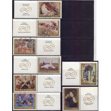1969, сентябрь. Набор почтовых марок Польши. Польские картины
