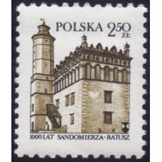 1980, июль. Почтовая марка Польши. 1000-летие ратуши Сандомир