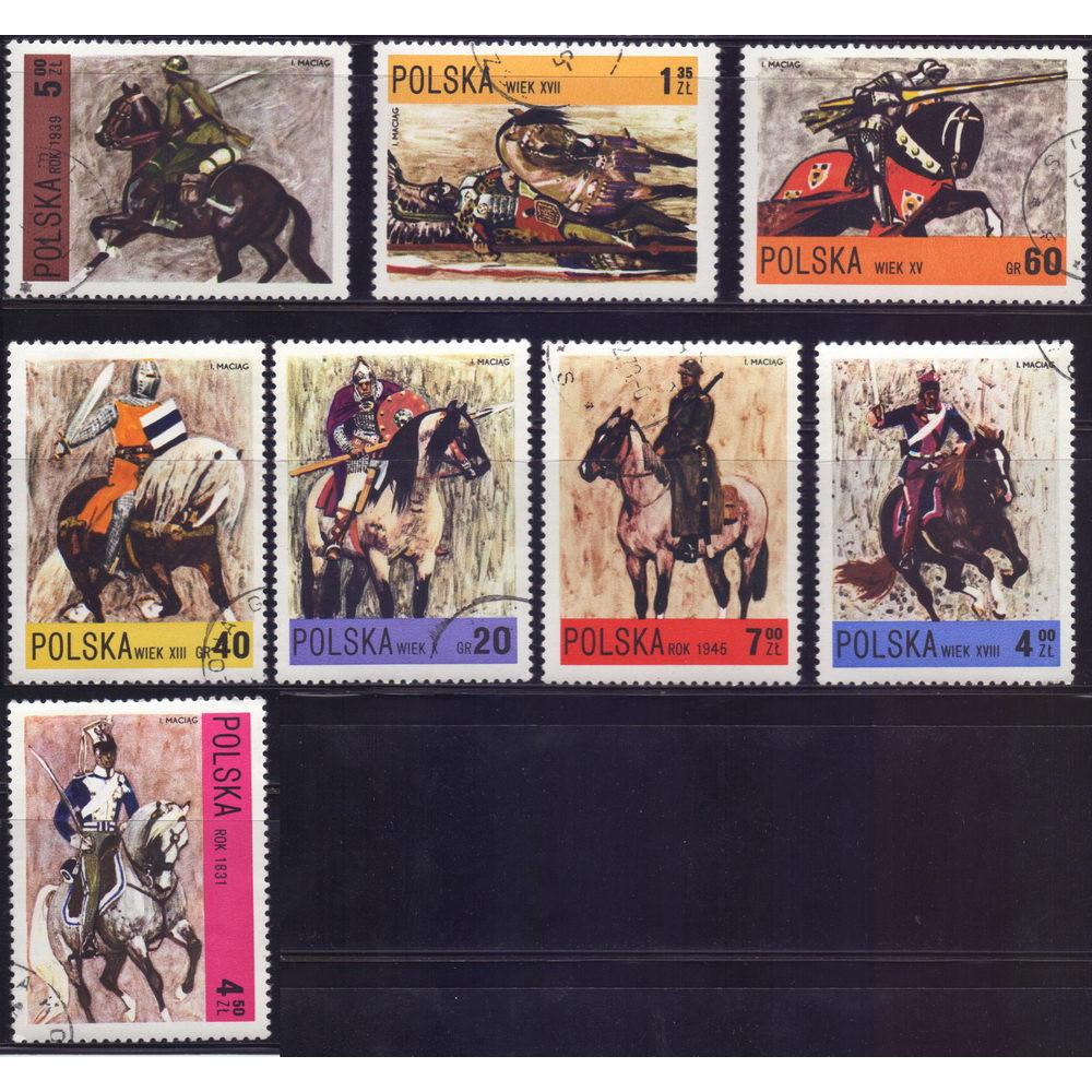 1972, декабрь. Набор почтовых марок Польши. Польская кавалерия