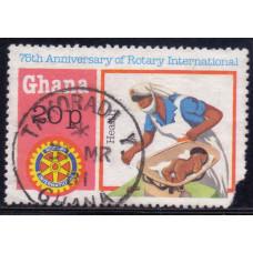 1980 Декабрь Гана 75 лет Rotary International (Ротари Интернешнл) 20 песев