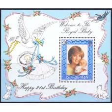 1982 Октябрь Остров Мэн День Рождения Принца Уильяма 50 пенсов